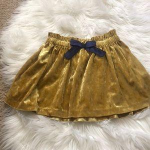Genuine kids toddler girl velvet skirt